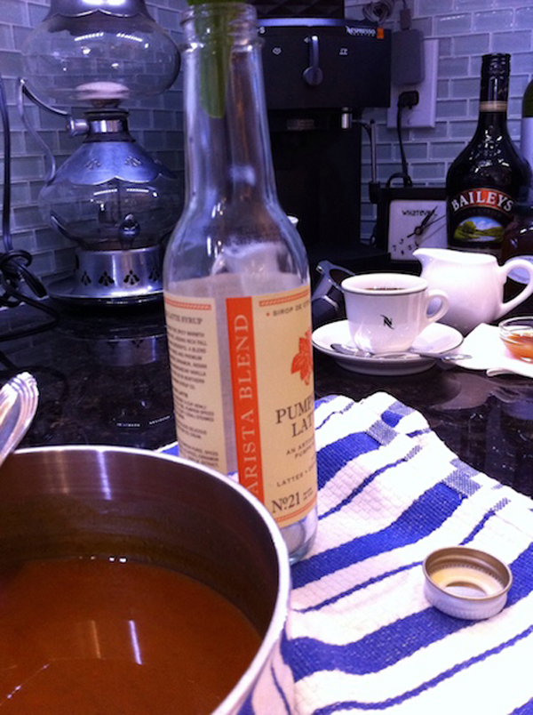 Step 3, Pumpkin Spiced Latte Syrup