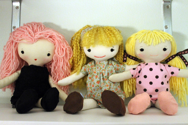 The best friends are a wee bit afraid of Rocker Doll