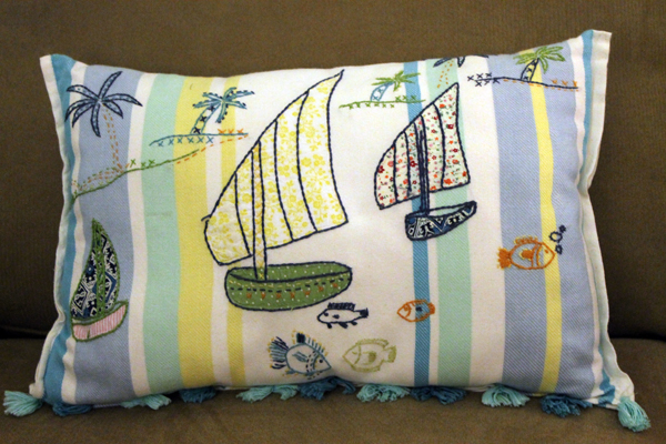 Pillow from tea towel