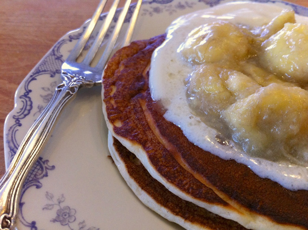 Finale in Bananas Foster Pancakes