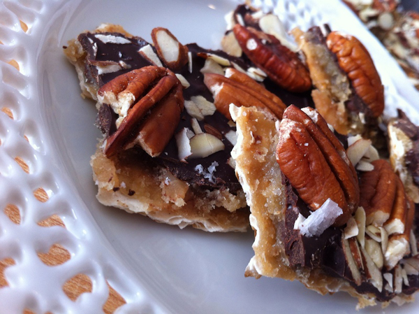 Matzo Toffee, created by Michelle