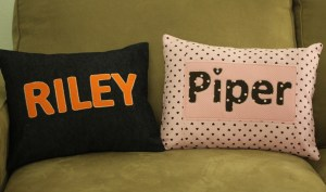 Riley and Piper Name Pillows