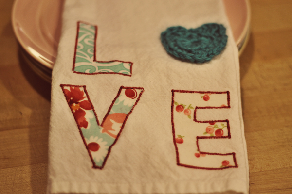 Tea Towel Heart