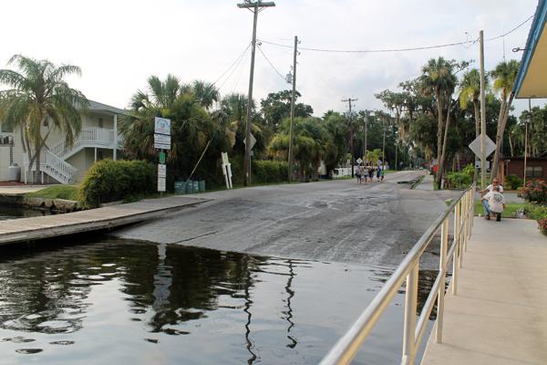 The boat ramp