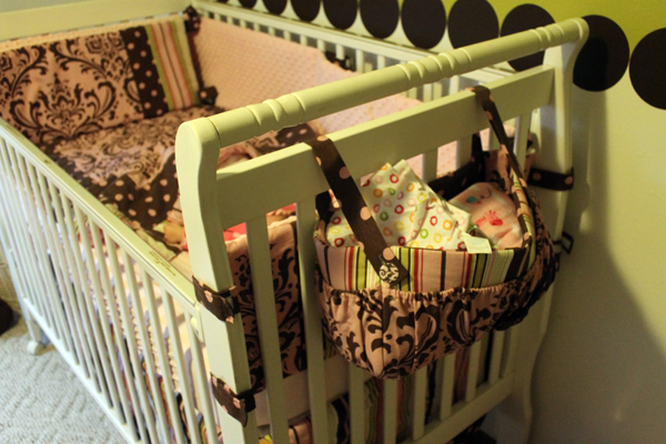 DIY diaper caddy with premier prints from fabri.com