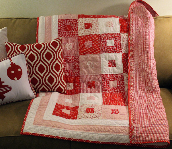 Candy Cane Christmas Quilt