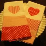 DIY Heart Tea Towels