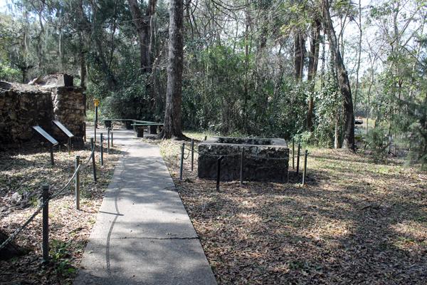 Sugarmill Ruins Sidewalk