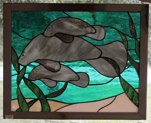 manatee stained glass