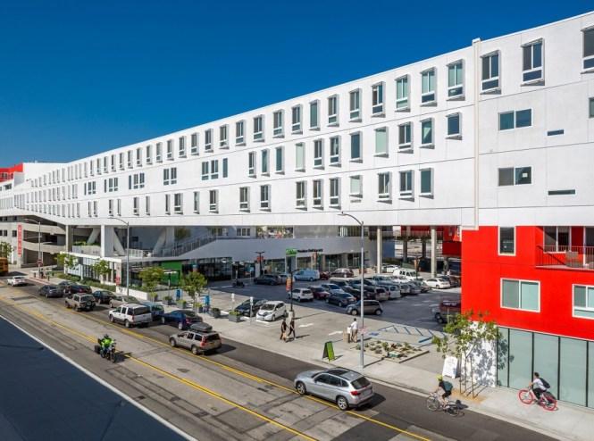 One Santa Fe Mixed Use Podium Apartments Retail Los Angeles California