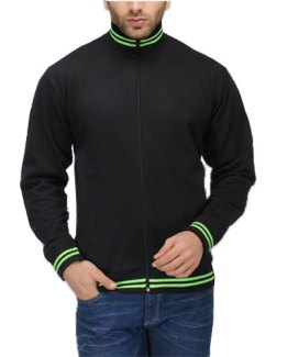 Black-with-Green-Stripes
