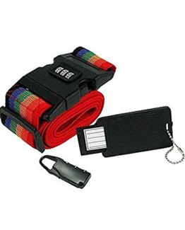 Adjustable-Suitcase-Strap,-Pad-Lock-and-ID-Tag-Combo