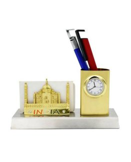 Taj-Mahal-Desk-Organizer-with-clock