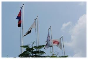 プノンペンAEON旗