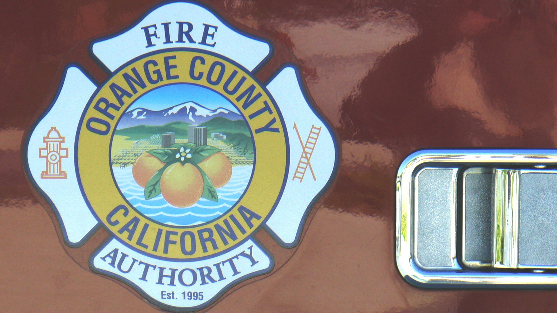 The Orange County Fire Authority seal is shown in a file photo.