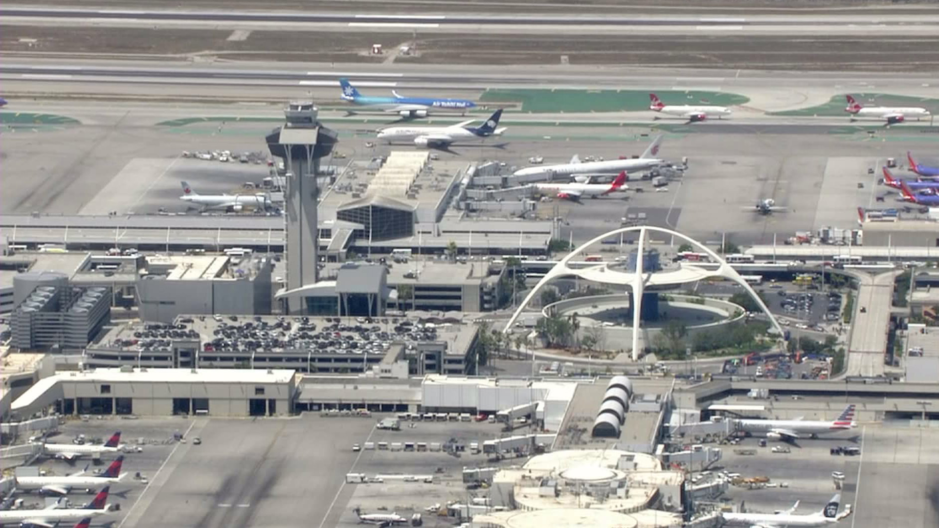 Los Angeles International Airport is shown in this file photo. (Credit: KTLA)
