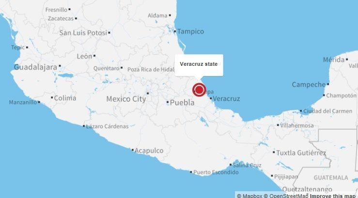 Mexican authorities rescued 178 Central American migrants found abandoned in a trailer in Veracruz state. (Credit: CNN)