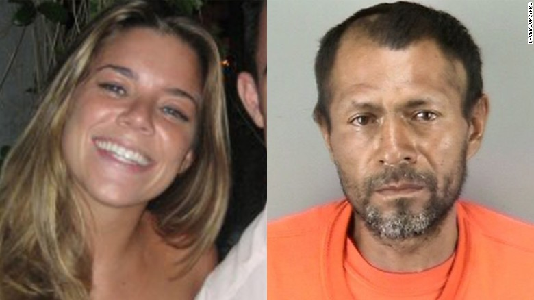 Kate Steinle, left, who was killed in July 2015, is seen in a Facebook photo. Jose Ines Garcia Zarate, right, is seen in a San Francisco Police Department photo.