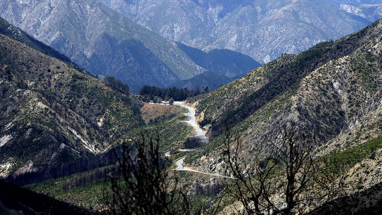 A section of the Angeles Crest Highway near La Cañada Flintridge is seen in this file photo from 2011. (Credit: Angeles Crest Highway near La Cañada Flintridge on May 15, 2011.