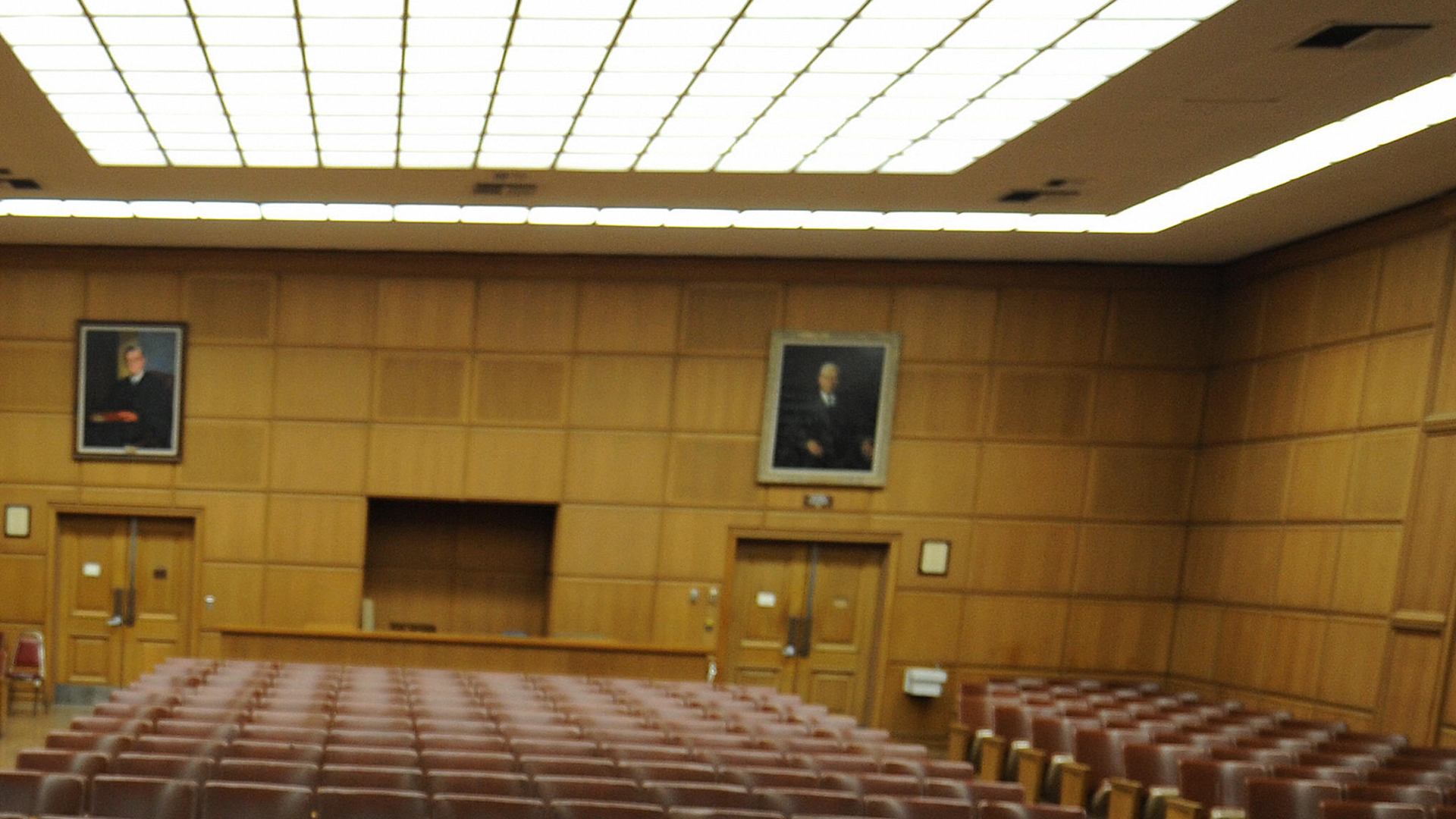 A courtroom at Los Angeles Superior Court is seen in Los Angeles, on July 15, 2009. (Credit: MARK RALSTON/AFP/Getty Images)