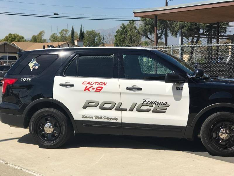 An image of a The Fontana Police Department K-9 vehicle, as pictured on the department's Facebook page.