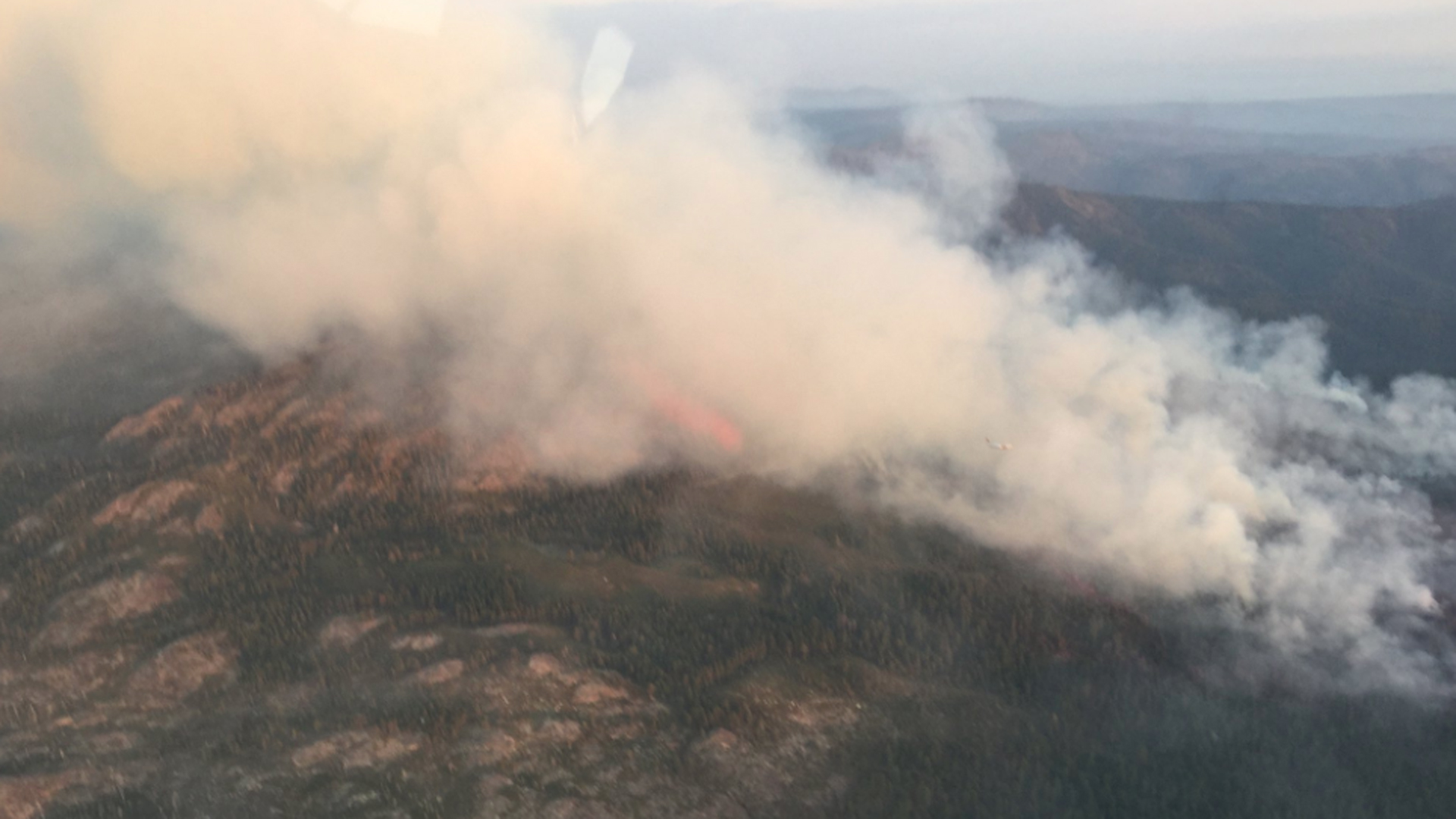 The U.S. Forest Service tweeted out this photo of the North Fire burning in the Tahoe National Forest on Sept. 6, 2018.