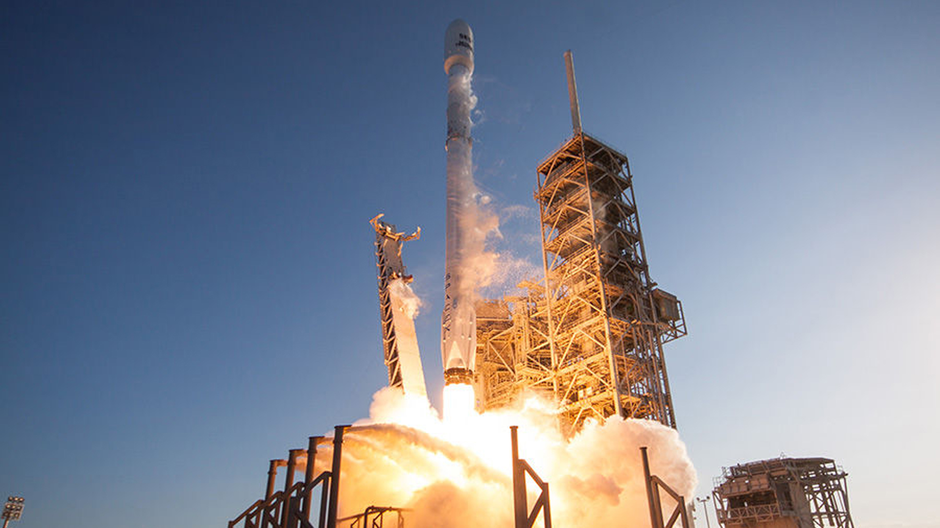 A SpaceX Falcon 9 rocket lifts off from a launch pad in Florida on March 30, 2017. (Credit: SpaceX)
