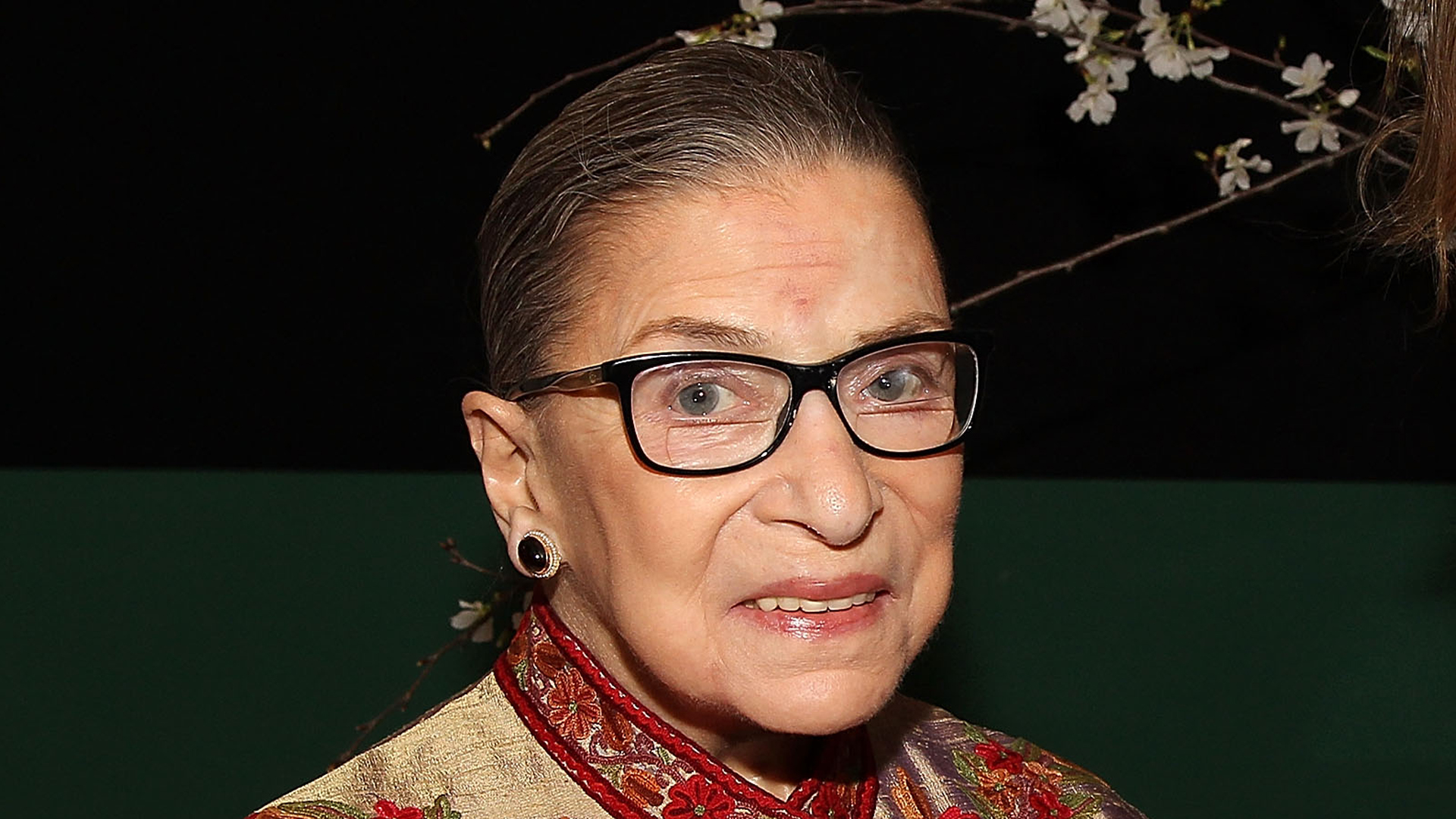 Justice Ruth Bader Ginsberg attends the ELLE and HUGO BOSS Women in Washington Power List Dinner at The Residence of the German Ambassador on March 18, 2015, in Washington, D.C. (Paul Morigi/Getty Images for ELLE)