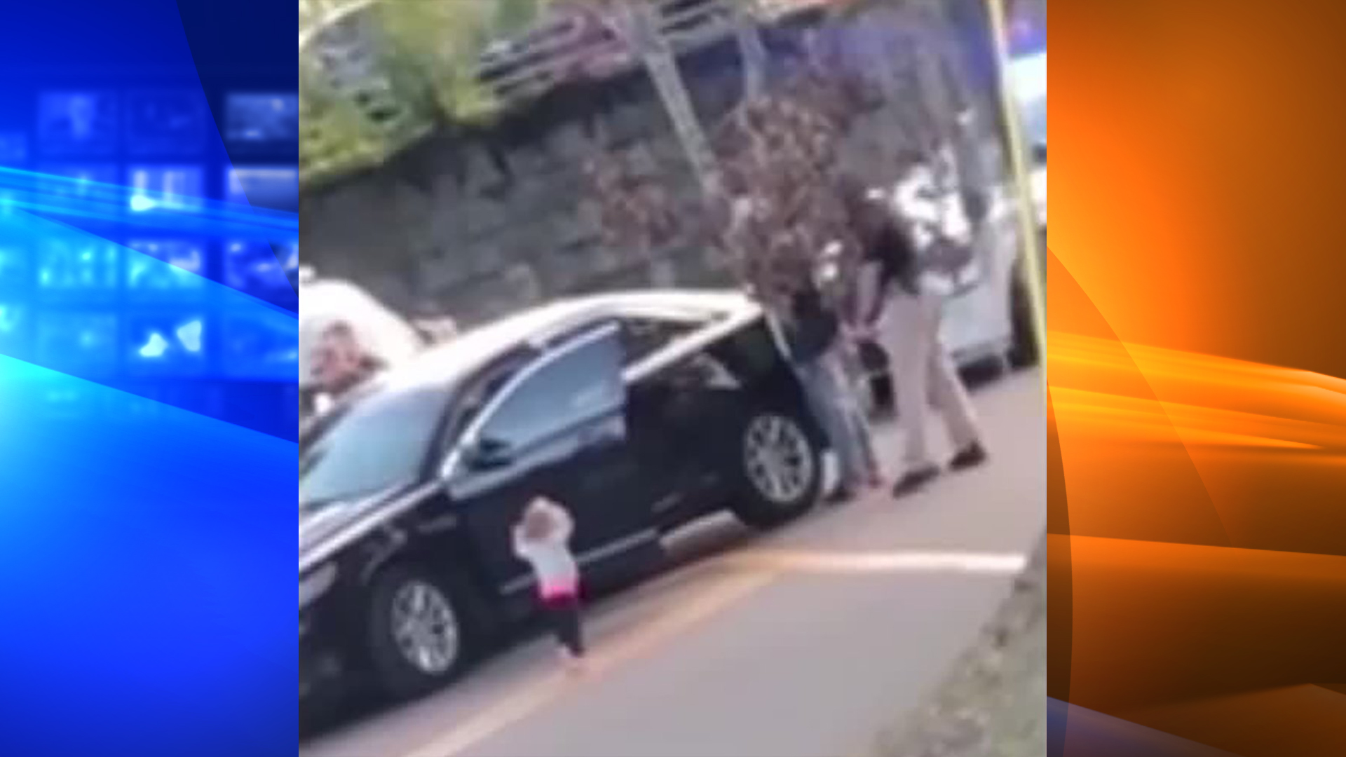 The Tallahassee Police Department shared this photo of a barefoot toddler holding up her hands as her father was pulled over for a traffic stop on Jan. 17, 2019.