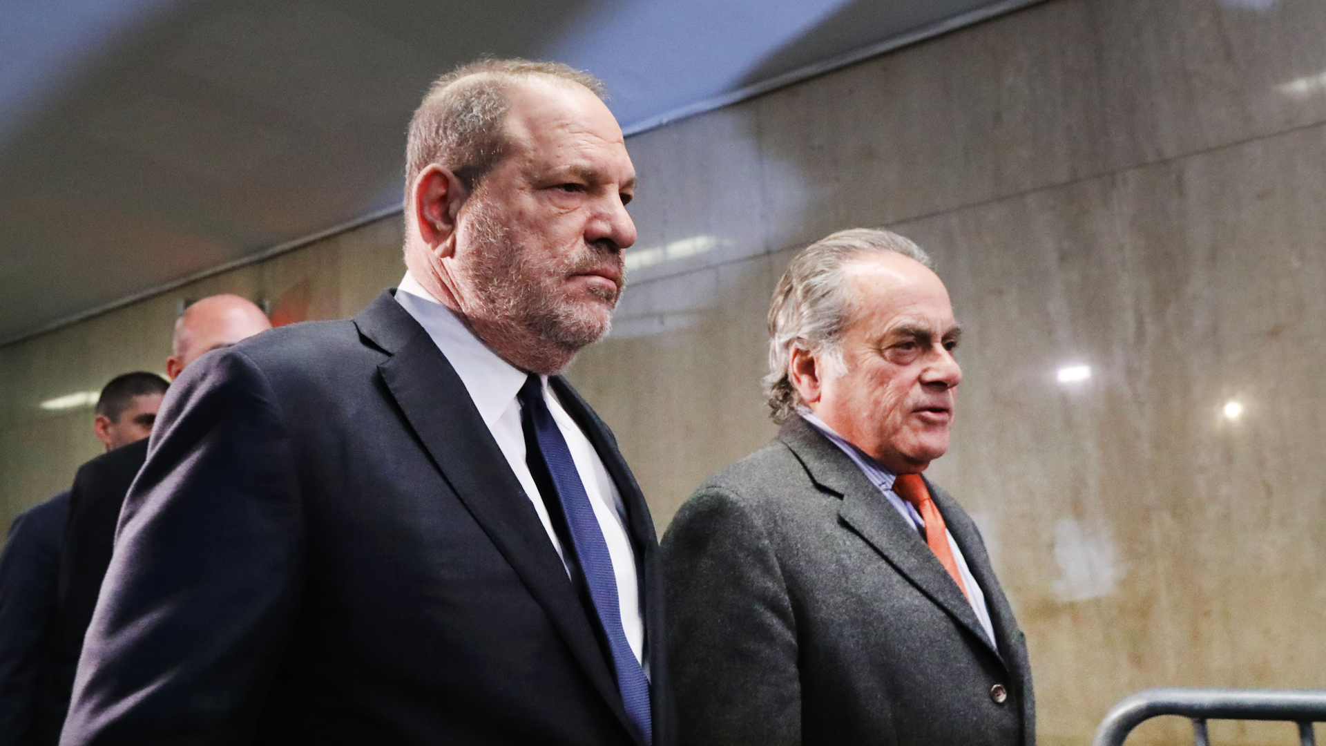 Harvey Weinstein arrives with his lawyer Benjamin Brafman for a court hearing at New York Criminal Court on Dec. 20, 2018, in New York City. (Credit: Spencer Platt/Getty Images)