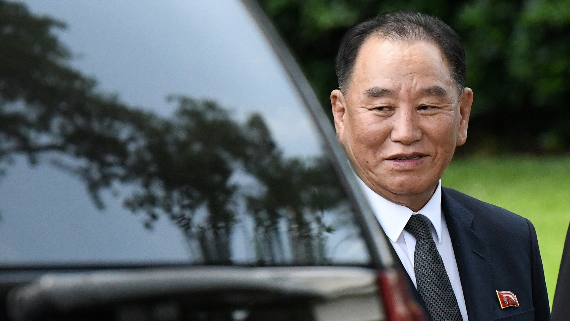 Kim Yong Chol, one of Kim Jong Un's closest aides departs the White House on June 1, 2018, in Washington, D.C. (Credit: Olivier Douliery-Pool/Getty Images)