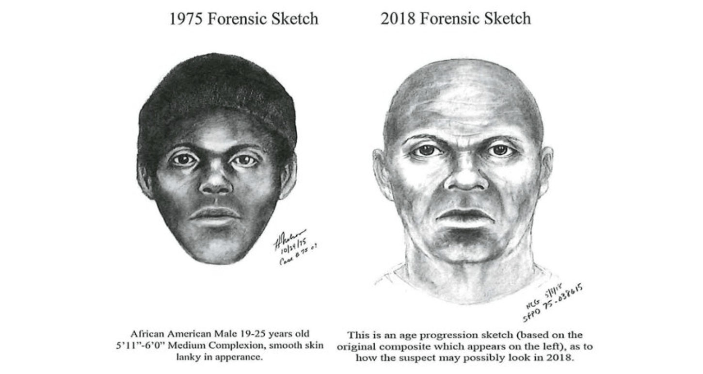 """Sketches show what the serial killer dubbed the """"Doodler"""" would look like today in an image provided by the San Francisco Police Department on Feb. 6, 2019."""