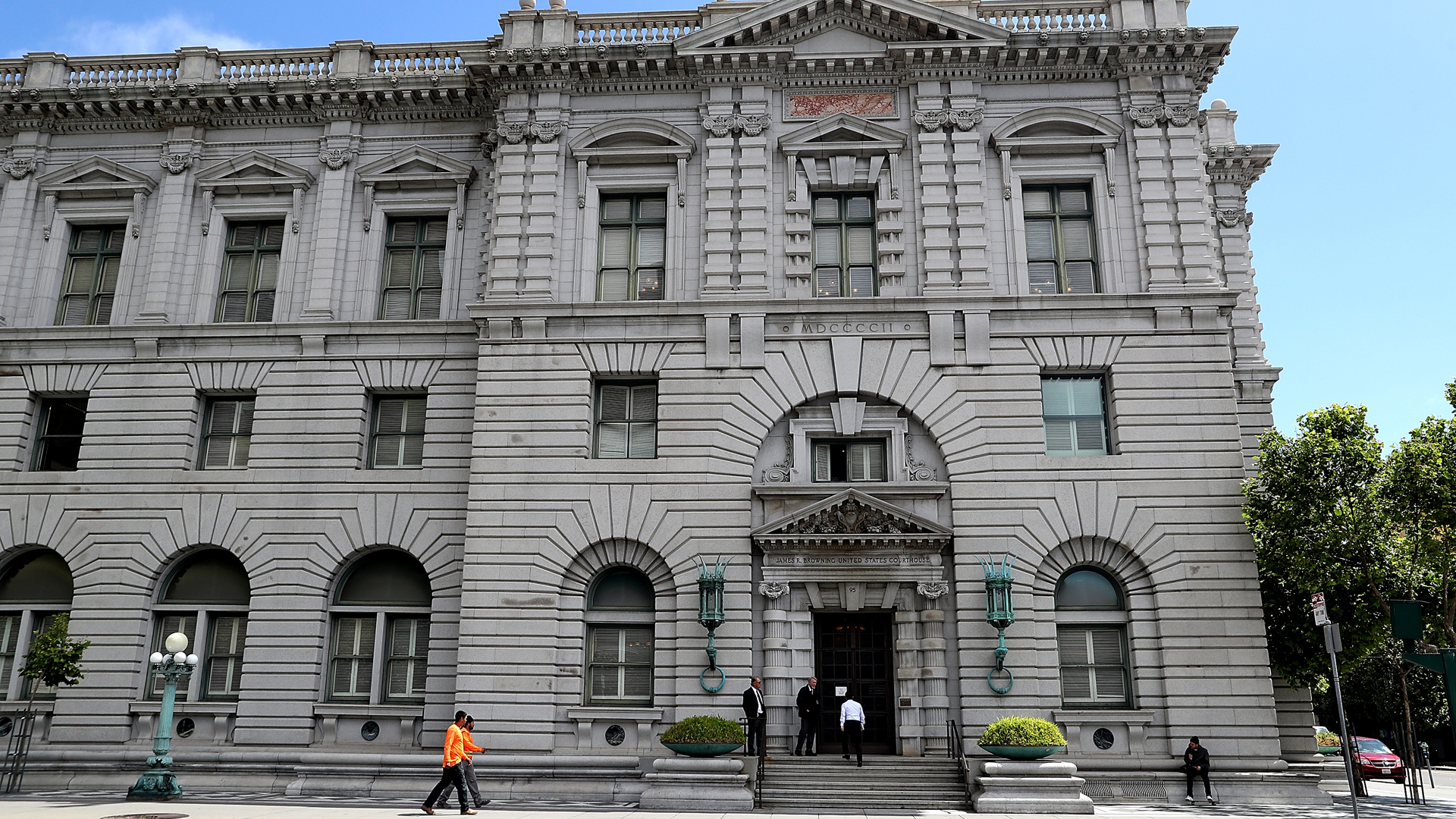 A view of the Ninth U.S. Circuit Court of Appeals on June 12, 2017 in San Francisco. (Credit: Justin Sullivan/Getty Images)