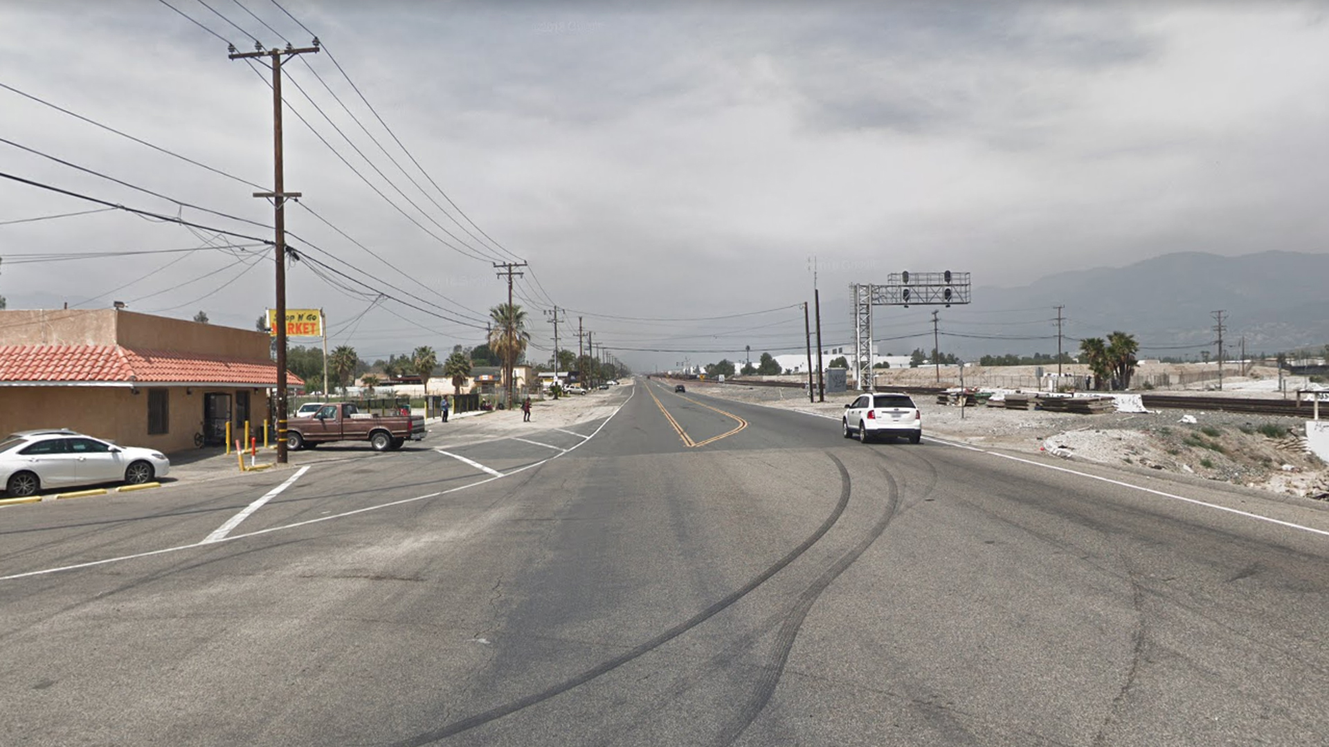Cajon Boulevard, just north of Kern Street, as pictured in a Google Street View image in April of 2018.