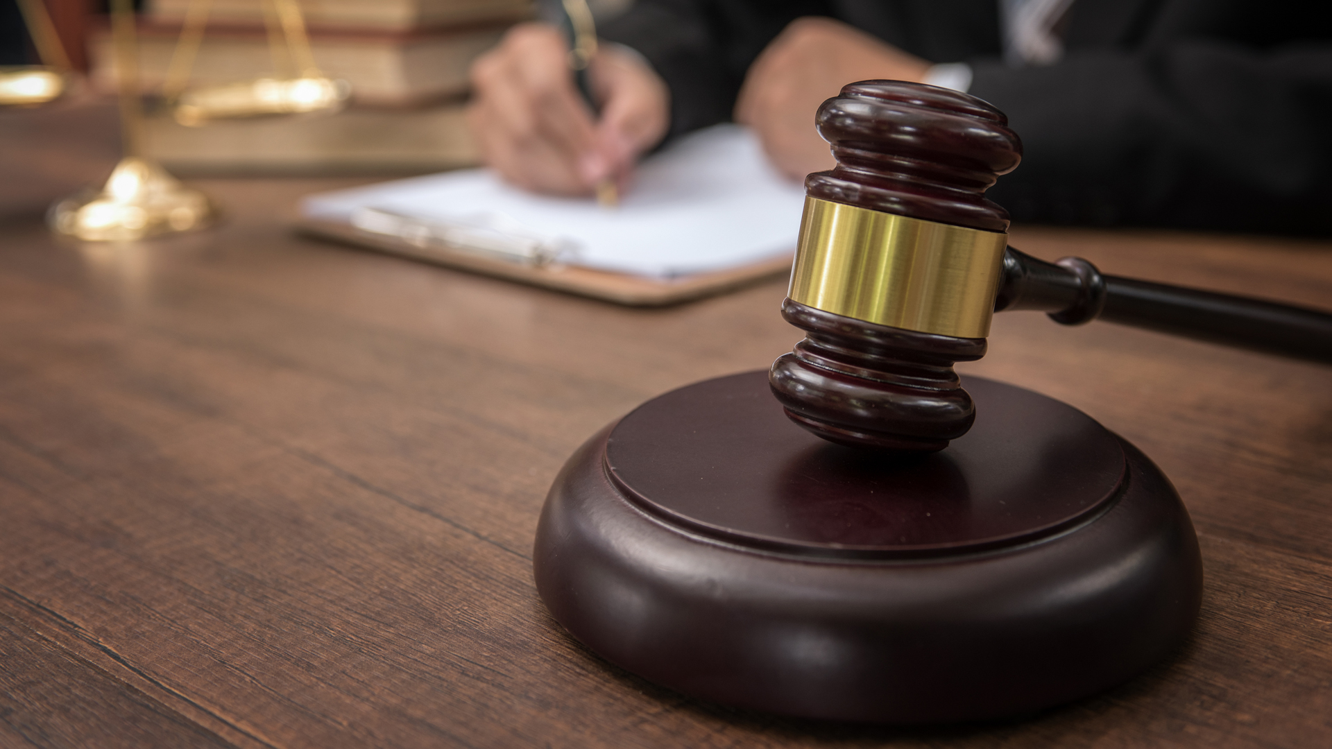 A gavel is seen in a courtroom in this file photo. (Credit: iStock / Getty Images Plus)