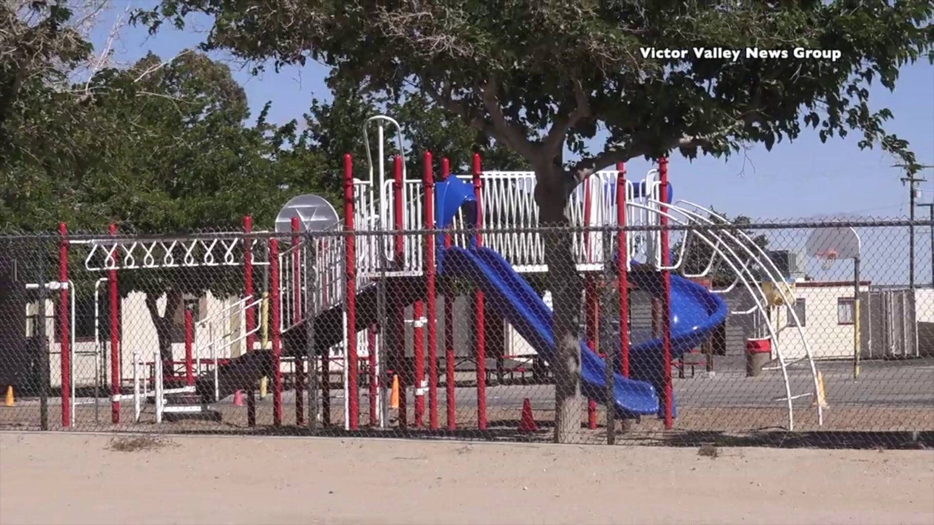 The playground at Baldy Mesa Elementary School is seen on May 20, 2019. (Credit: Victor Valley News Group)