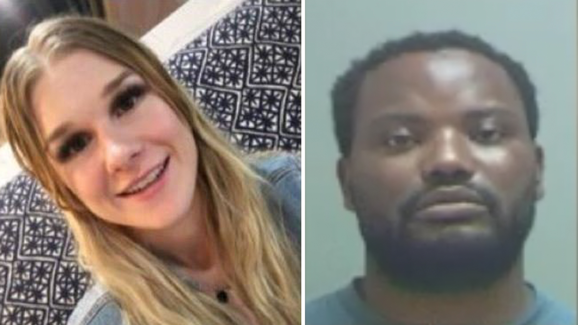 MacKenzie Lueck is seen in an undated photo provided by Salt Lake City police. On the right, Ayoola Ajayi is seen in an undated photo. (Credit: KSTU via CNN)