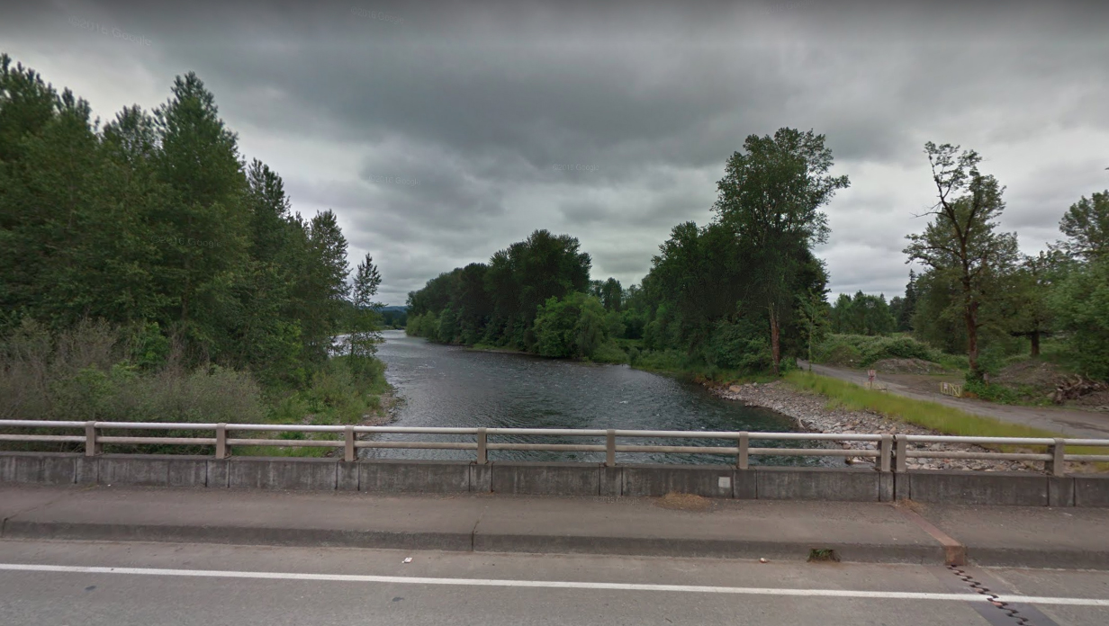 The Santiam River, outside of Portland, Oregon, as pictured in a Google Street View image in May of 2016.