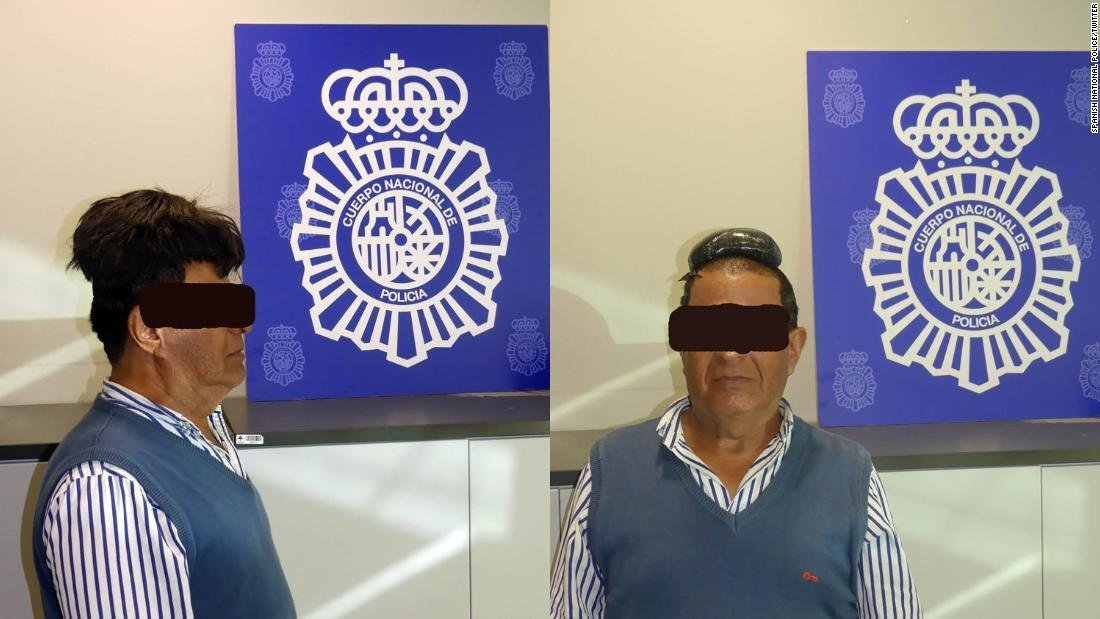 Drug smugglers have come up with some novel ways of moving their goods around the world undetected, but a recent incident at Barcelona airport involved a surprisingly low-tech approach. (Credit: Spanish National Police/Twitter)