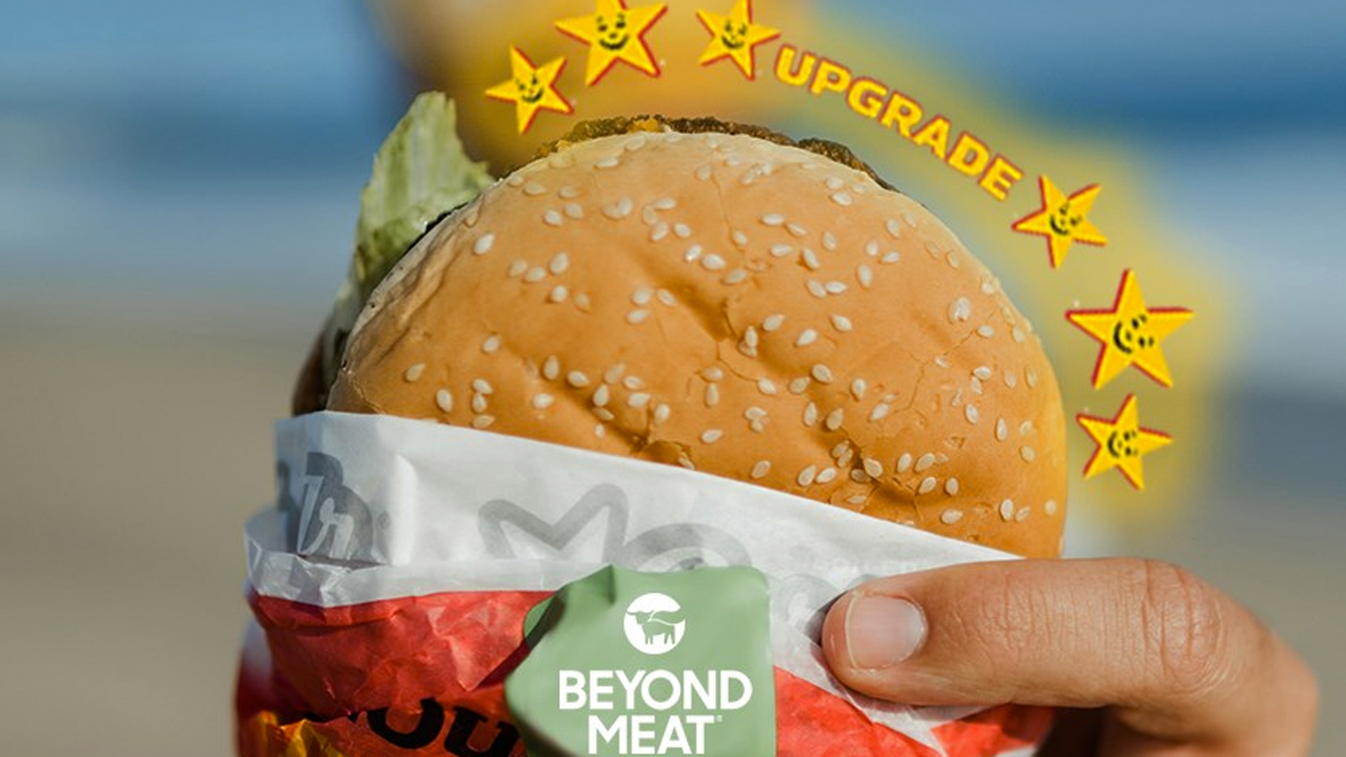 The Carl's Jr. Beyond Famous Star is seen in an image posted to the company's Facebook page.