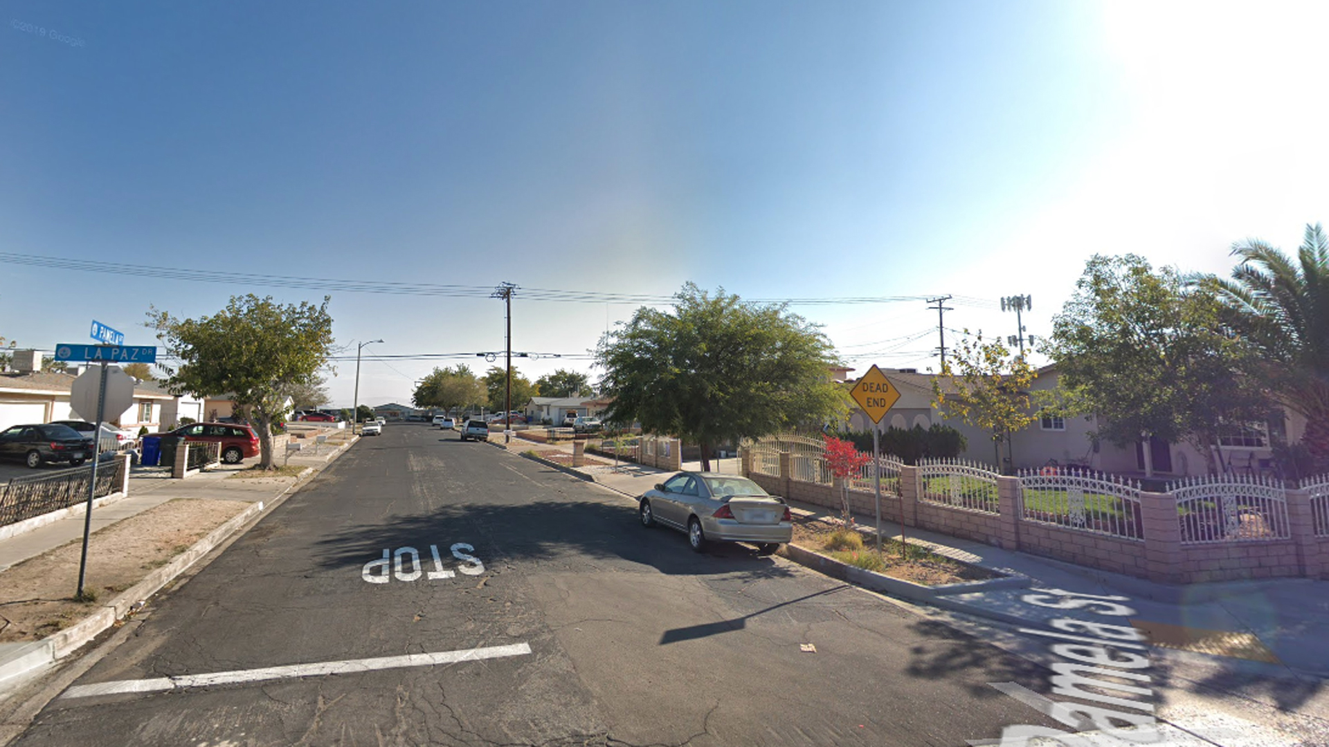 The 16100 block of Pamela Street in Victorville is seen in a Google Maps Street View image.