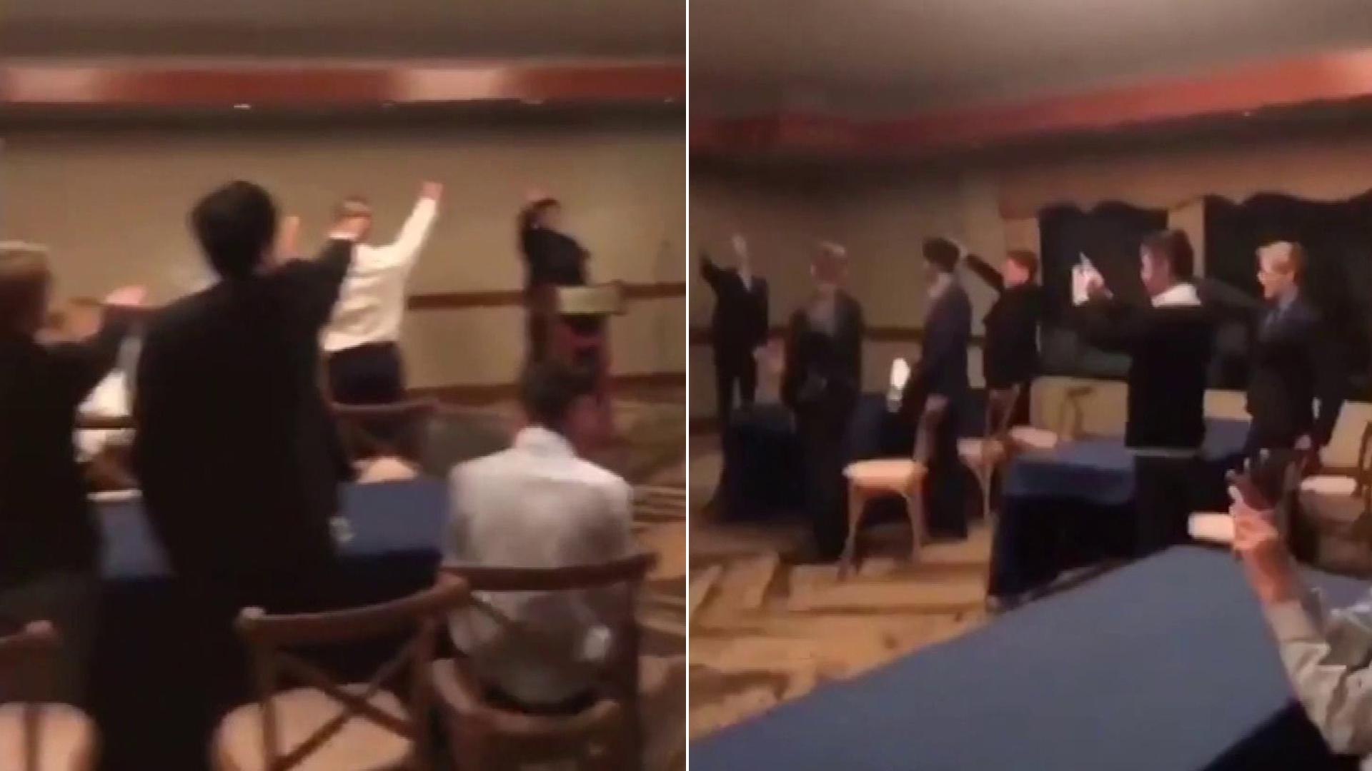 A video emerged on Instagram showing a group of teens giving a Nazi salute at an event last November.