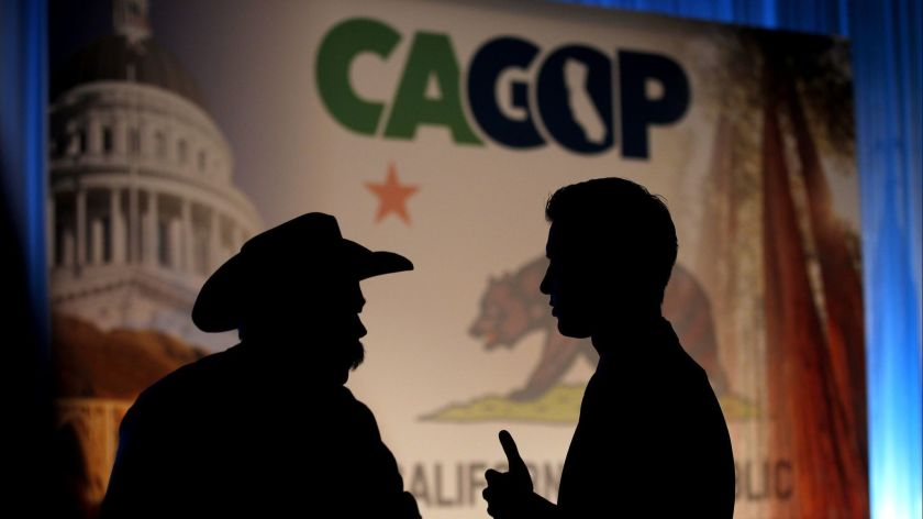 Party members attend the California Republican Party convention in 2015. (Credit: Allen J. Schaben / Los Angeles Times)