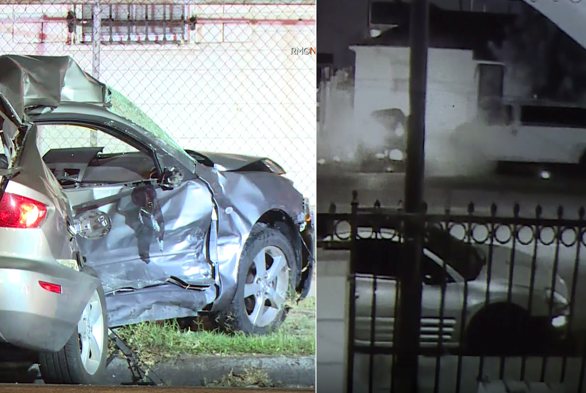 A car involved in a fatal crash in Gramercy Park is seen on Sep. 27, 2019. (Credit: RMG News)