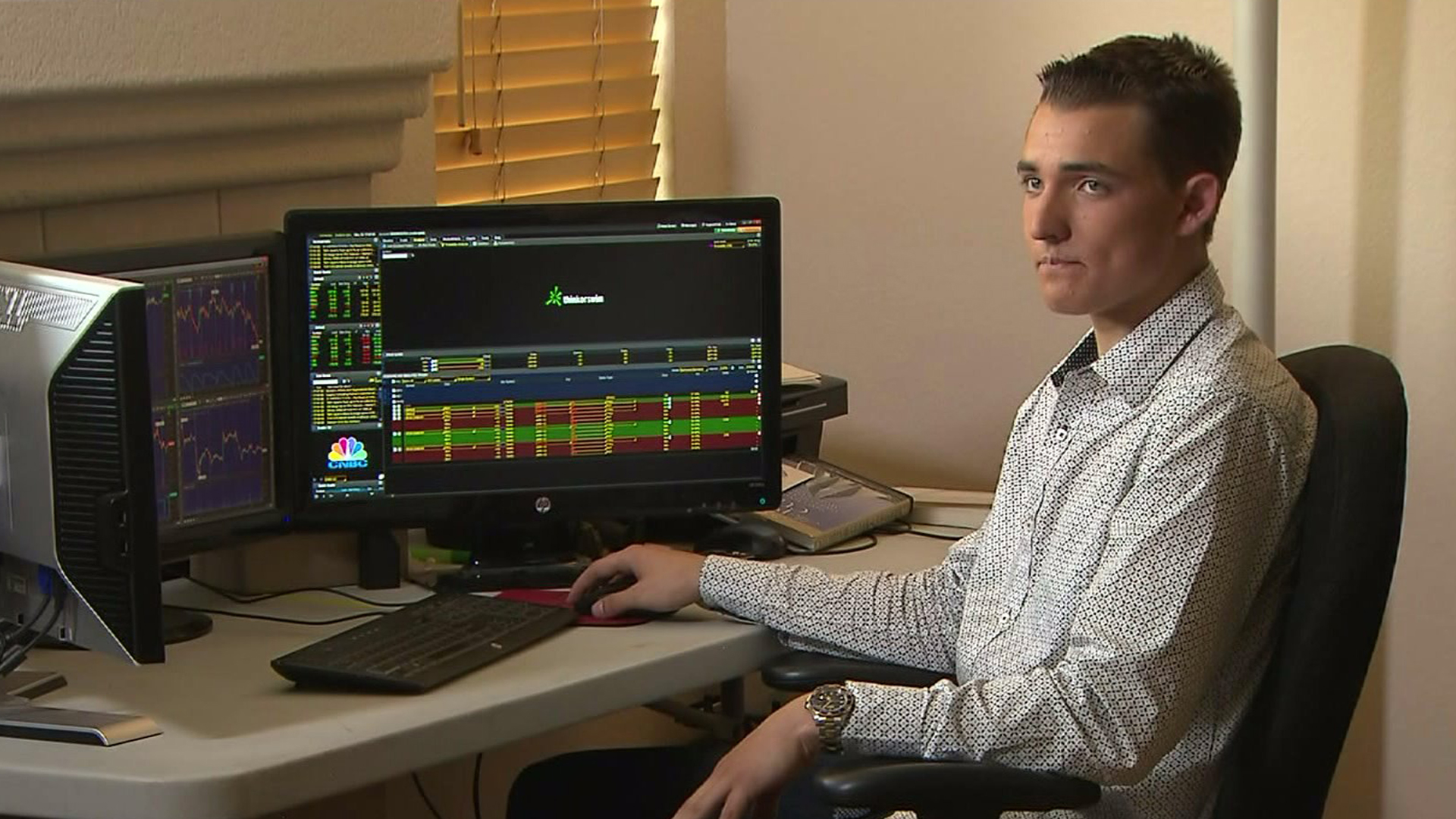 Jacob Wohl is interviewed by KTLA on March 16, 2015, when he was still a high school student in Corona. (Credit: KTLA)