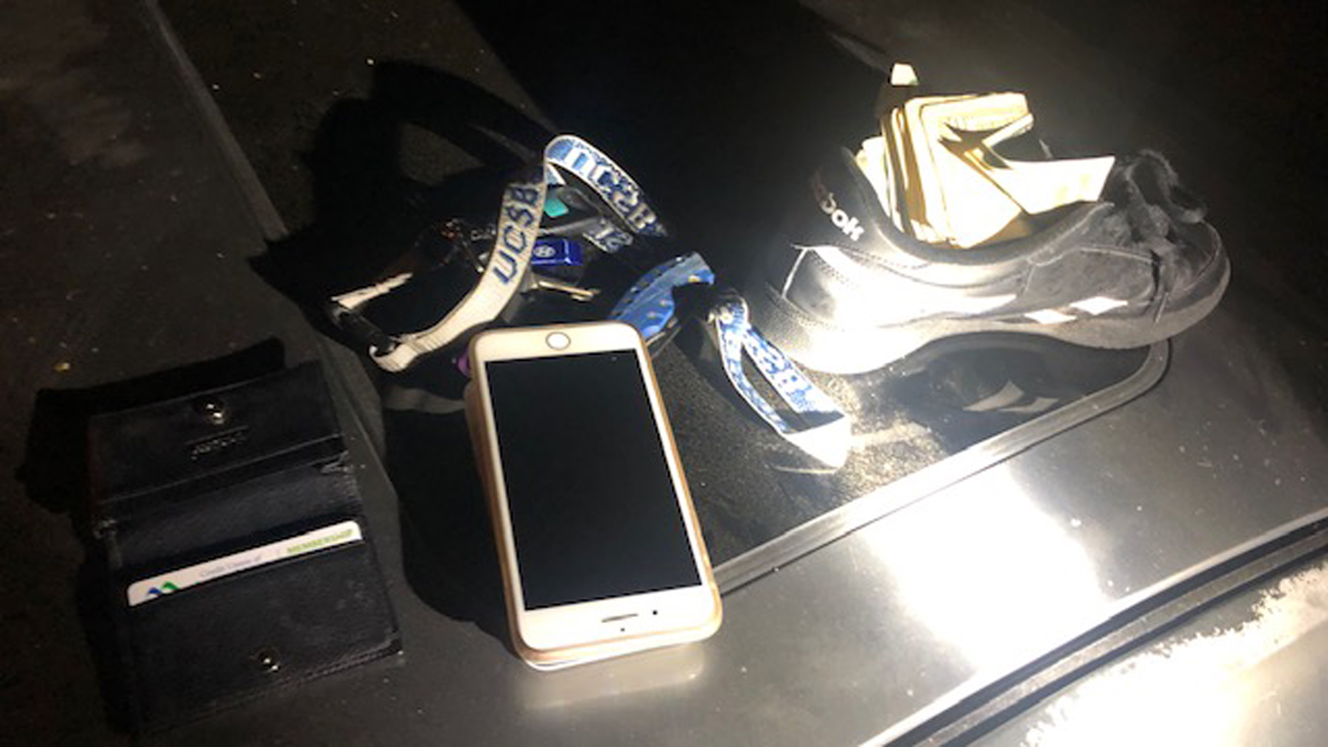 Allegedly stolen items recovered from a home-invasion robbery suspect following his arrest in Pomona on Oct. 3, 2019, are pictured in this photo provided by the Pomona Police Department.