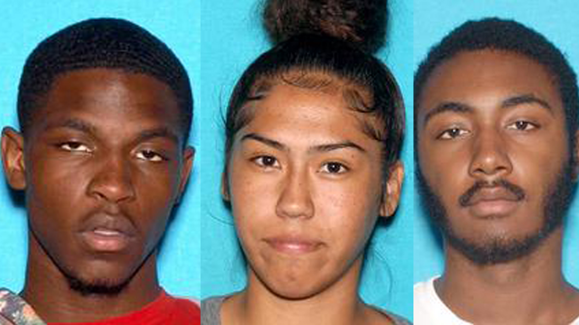 Three individuals who were arrested on charges of residential burglary in La Canada Flintridge are seen in booking photos released by LASD on Nov. 15, 2019.