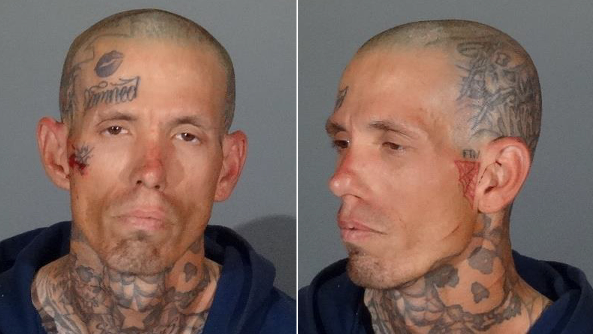 Brian Hardy is seen in booking photos released Nov. 12, 2019, by the Covina Police Department.