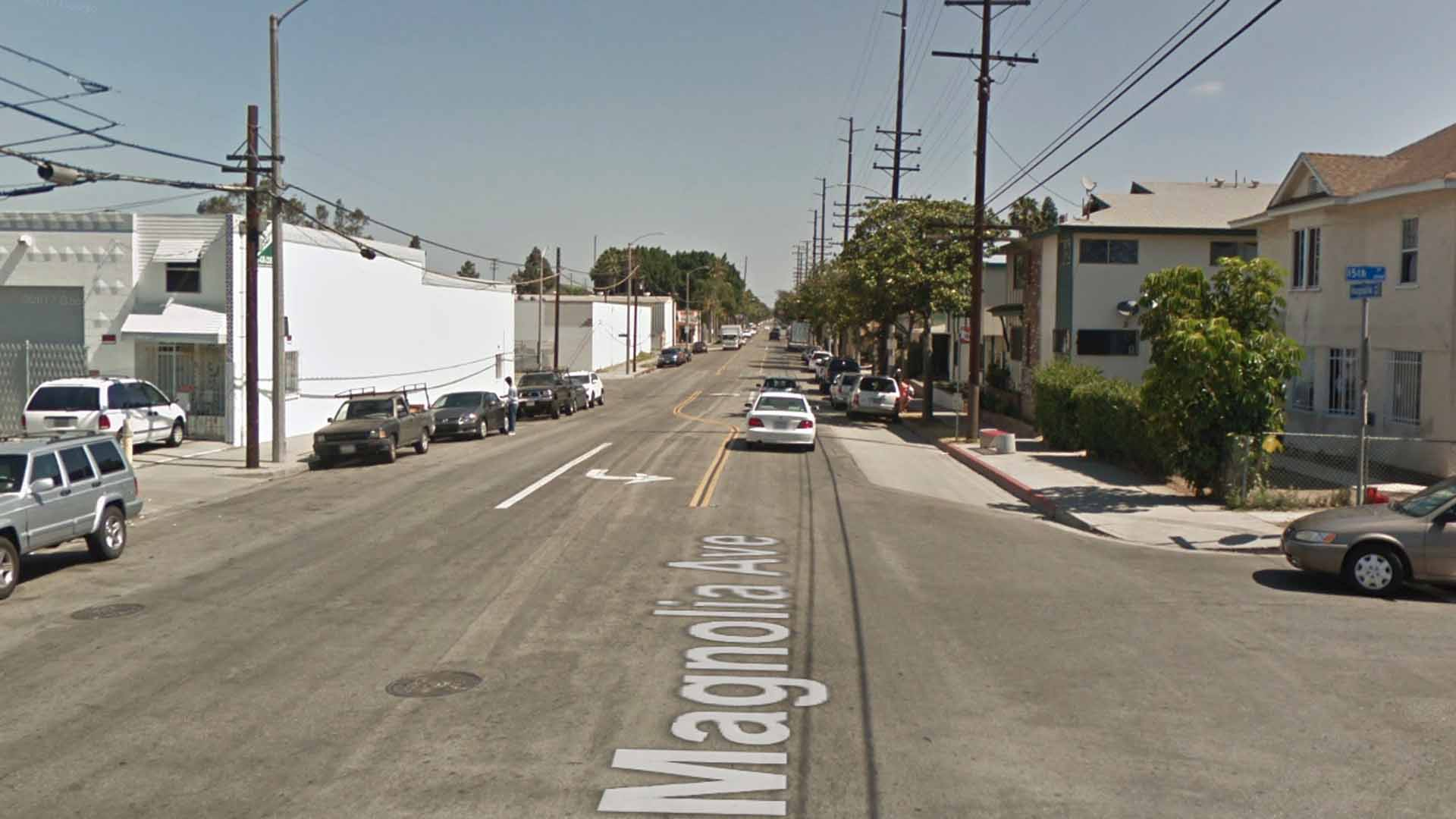 The 1500 block of Magnolia Avenue in Long Beach, as viewed in a Google Street View image.