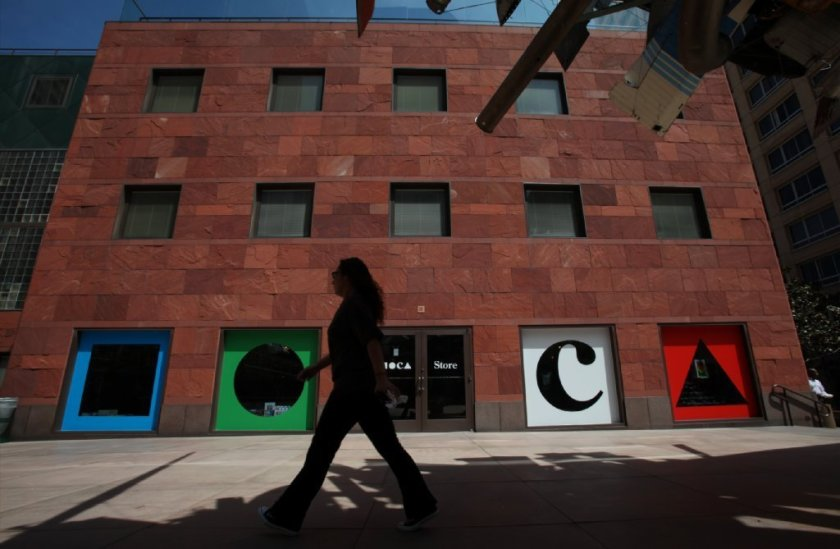 A person walks by the Museum of Contemporary Art in Los Angeles in this undated photo. (Credit: Francine Orr / Los Angeles Times)
